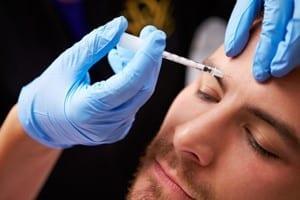 Man getting Botox injection