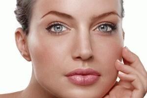 Woman close-up of face