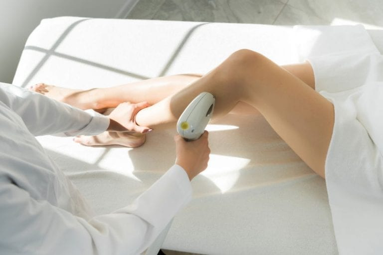 Laser hair removal procedure - legs